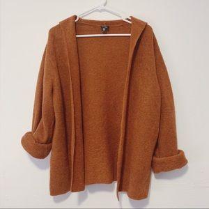 Eileen Fisher burnt orange Cardigan wool Mohair